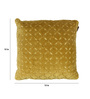 The Decor Mart Lime Green Velvet 15 x 15 Inch Cushion Cover with Insert
