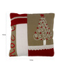 The Decor Mart Red Cotton 9.5 x 9.5 Inch Cushion Cover with Insert