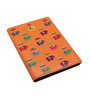 The Elephant Company Flying Elephants Faux Leather Orange Passport Cover