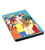 The Elephant Company Happy Family Faux Leather Cyan Passport Cover