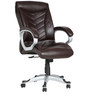 (Free Kid Chair)The Estrella Executive High Back Chair in Brown color by VJ Interior