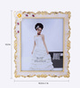 The Exclusive Deco White & Gold Plastic 10.2 x 1 x 12.2 Inch Heart Throbbing Photo Frame