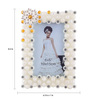 The Exclusive Deco White Plastic 6.3 x 1 x 8.3 Inch Dazzling Photo Frame