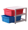 The Furniture Store Iron Multicolour Two Level Multipurpose Drawer