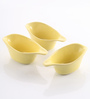 The Himalayan Goods Company Yellow Ceramic 100 ML Stackable Sauce Boats - Set of 3