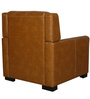 The Legend One Seater Sofa in Brown Leatherette by Sofab