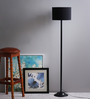The Light House Black Shade Metal Floor Lamp