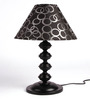 The Light House Black Silver Contemporary Table Lamp