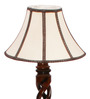 The Light House Tripped Lace Twisted Wood Floor Lamp
