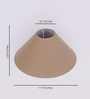 The Light Store Beige Cotton Conical Lamp Shade