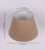 The Light Store Beige Cotton Empire Lamp Shade