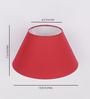 The Light Store Maroon Cotton Empire Lamp Shade