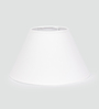 TLS by Kapoor Lampshades White Cotton Empire Lamp Shade