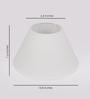 The Light Store White Cotton Empire Lamp Shade