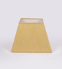 TLS by Kapoor Lampshades Yellow Ghicha Square Lamp Shade
