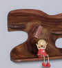 The Mikky Shoppe Station Brown Wood Wall Shelf