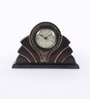 The Mikky Shoppe Station Brown Mango Wood & MDF Table Clock