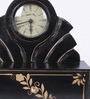 The Mikky Shoppe Station Black Mango Wood & MDF Table Clock with Drawer Box
