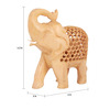 The Nodding Head Brown Wooden Classy Elephant Showpiece
