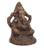 The Nodding Head Brown Brass Sitting Lord Ganesha Idol