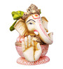 The Nodding Head Multicolor Polyresin Ganesha in Kalash Idol