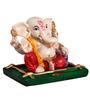 The Nodding Head Multicolor Polyresin Sitting Ganesha on Base in Dhoti
