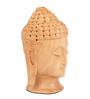 The Nodding Head Brown Wood Meditating Buddha Showpiece