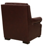The Prince One Seater Sofa in Dark Brown Leatherette by Sofab