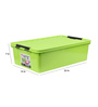 The Quirk Box Multipurpose Plastic Green 40 L Storage Box with Lid