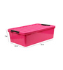 The Quirk Box Multipurpose Plastic Pink 40 L Storage Box with Lid
