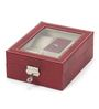 The Quirk Box Premium 6 Slots Leather Red Watch & Jewellery Box