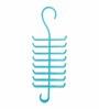The Quirk Box Premium Acrylic Blue Tie & Belt Closet Hanger