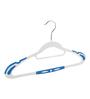 The Quirk Box Premium Quality Plastic Blue Antislip Cloth Hangers - Set of 10