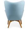 The Reggio Replica Wing Chair in Blue Colour by HomeHQ