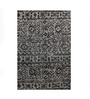 The Rug Republic Black Wool Indian Ethnic Hand Knotted Area Rug