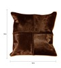 The Rug Republic Brown Natural Hide 18 x 18 Inch Oxford Cushion Cover with Insert