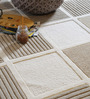 The Rug Republic Ivory & Natural Wool Geometric Pattern Carpet
