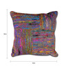 The Rug Republic Multicolour Recycled Silk 18 x 18 Inch Cushion Cover with Insert