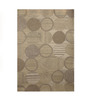 The Rug Republic Natural & Ivory Woollen Geometric Hand Tufted Area Rug