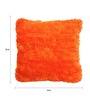 The Rug Republic Orange Polyester 18 x 18 Inch Glace Cushion Cover with Insert
