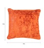 The Rug Republic Orange Viscose 18 x 18 Inch Cushion Cover with Insert
