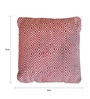 The Rug Republic Red Cotton 18 x 18 Inch Martos Cushion Cover with Insert