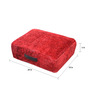 The Rug Republic Red Viscose 18 x 18 Inch Kashi Cushion Cover with Insert
