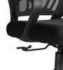 The Sencillo Low Back Task Chair in Black color by VJ Interior