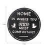 The Upcycle Project Black Vinyl Record Home Is Where You Poop Most Comfortably Wall Sticker