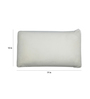 The White Willow White Memory Foam 19 x 10 Inch Rectangle Cushion Inserts - Set of 2
