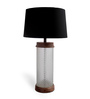 The Yellow Door Black Cotton Faceted Table Lamp