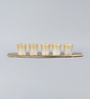 The Yellow Door Gold Aluminium & Glass Boat Candle Votives with Holder - Set of 5