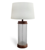 The Yellow Door White Cotton Faceted Table Lamp