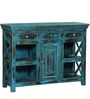 Jayne Three Drawer Sideboard in Distress Finish by Bohemiana
